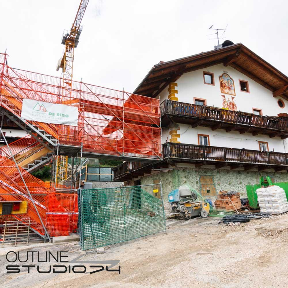 Cantiere a Cortina d'Ampezzo - Outline Studio 74